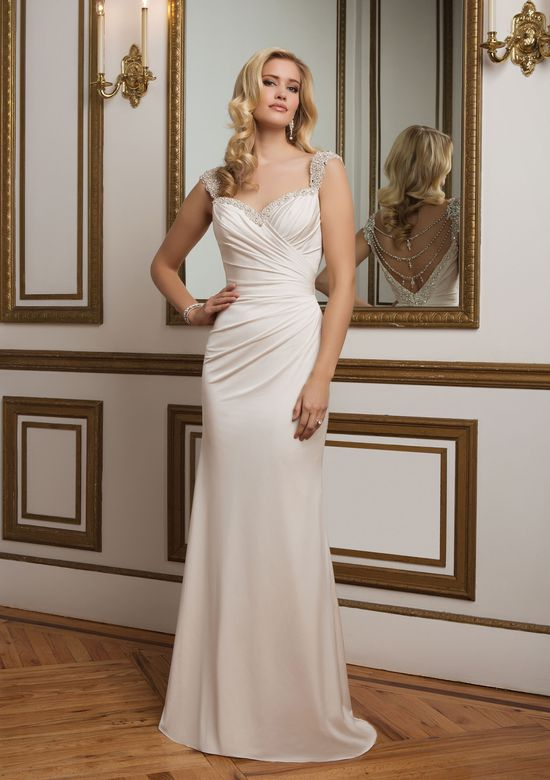 Justin Alexander Style 8820 Backless Wedding Dress with Beaded Sweetheart Neckline