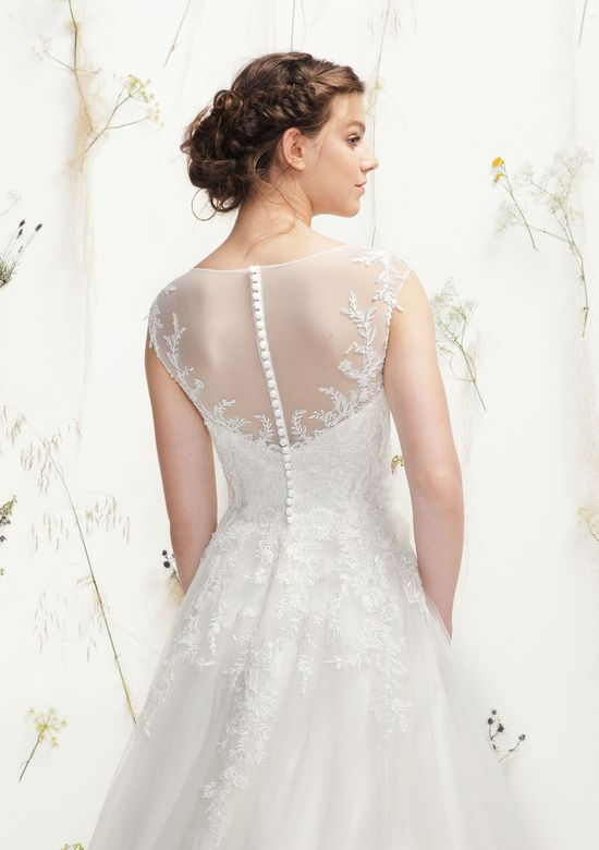 Lillian West Style 6404 Beaded Lace and Tulle Ball Gown with Sabrina Neckline