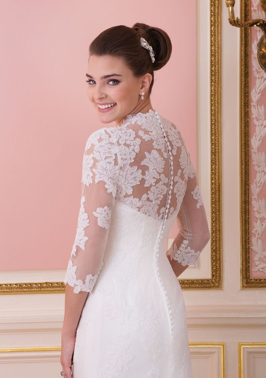Sweetheart Gowns Style 6013 Tulle A-line dress with an illusion neckline