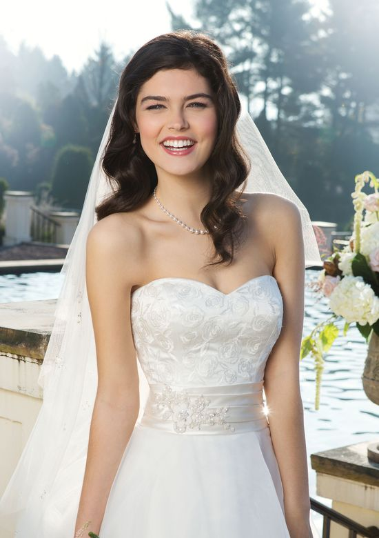 Sincerity Bridal Style 3754 Satin ball gown highlighted by a sweetheart neckline