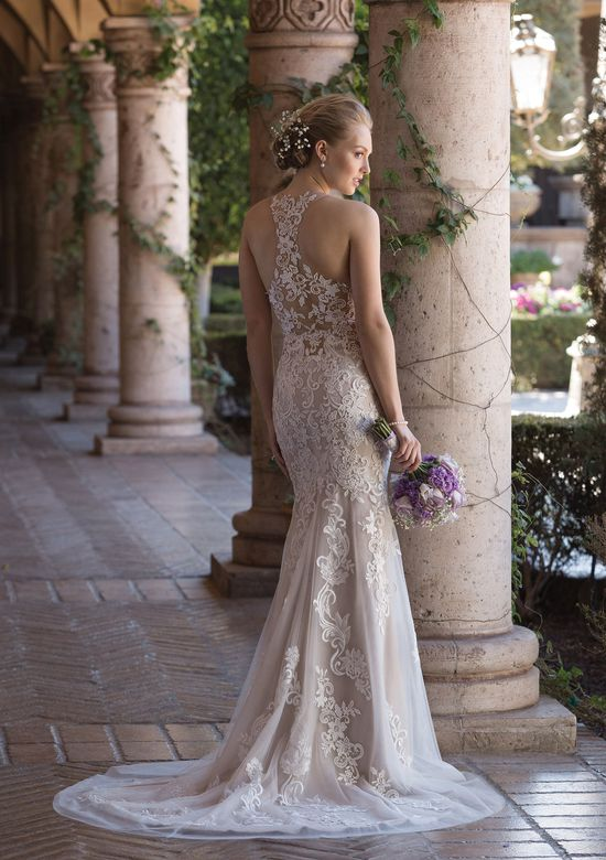 Sincerity Bridal Style 4027 Jewel Neck Fit and Flare Gown with Illusion Lace Racer Back