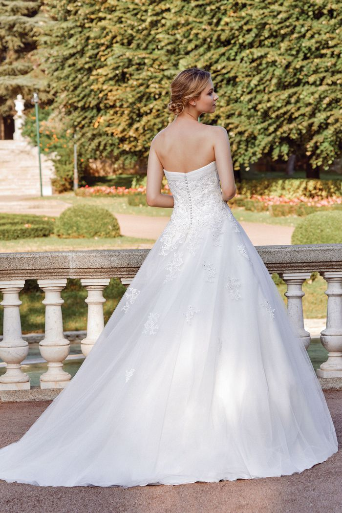 Sincerity Bridal Style 44126 Lightly Beaded Lace and Tulle Ball Gown