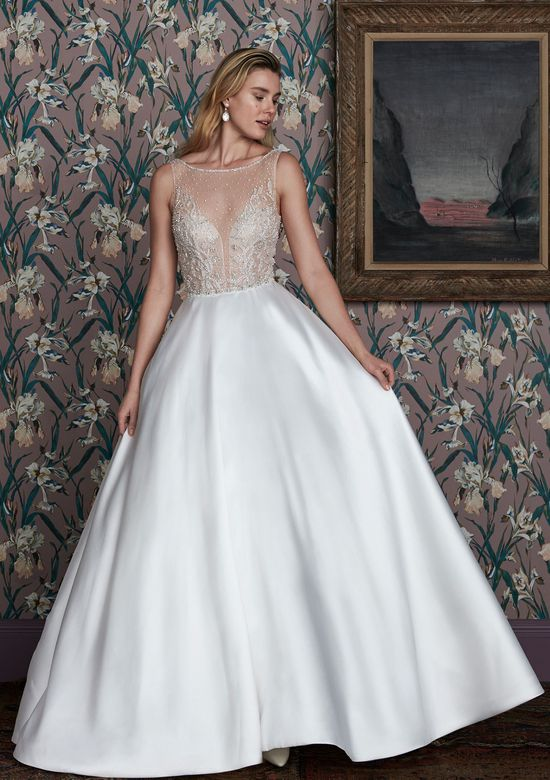 Justin Alexander Signature Style 99151 CARTER Sabrina Neckline Ball Gown Embellished with Scattered Beading