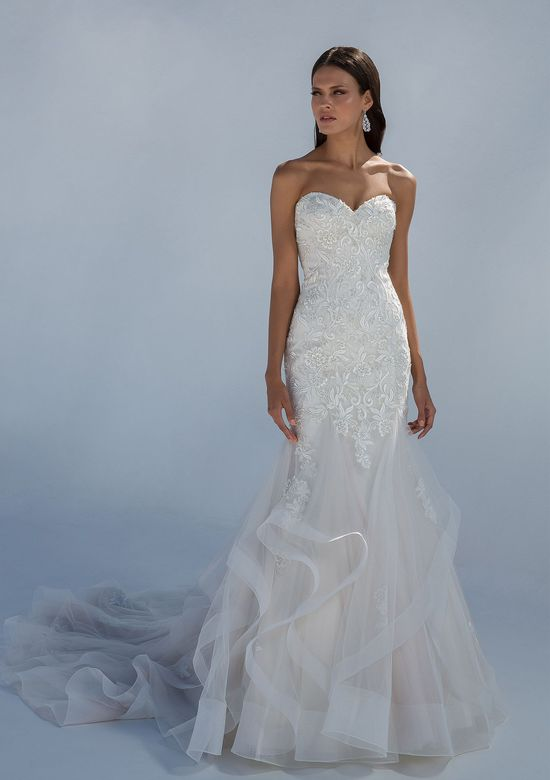 Justin Alexander Style 88011 Sweetheart Lace Mermaid Gown with Horsehair Hem