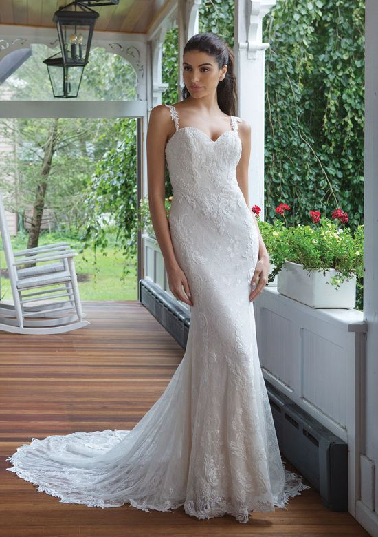 Sweetheart Gowns Style 11078 Fit and Flare Lace Gown with Low Illusion Back