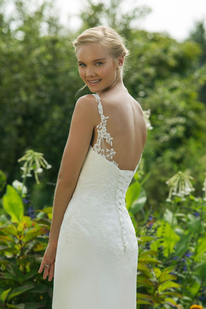 Sweetheart Gowns Style 11015 Sleeveless Satin Fit and Flare with Corset Back