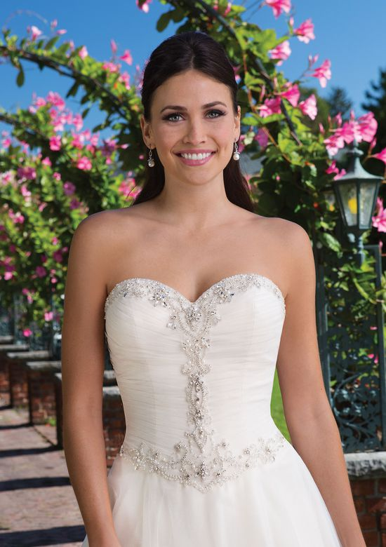 Sincerity Bridal Style 3922 Sparkle Tulle Ball Gown with Beaded Sweetheart Neckline