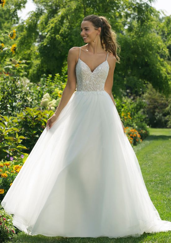 Sweetheart Gowns Style 11024 A-line Gown with Nude Bodice and Beaded Details