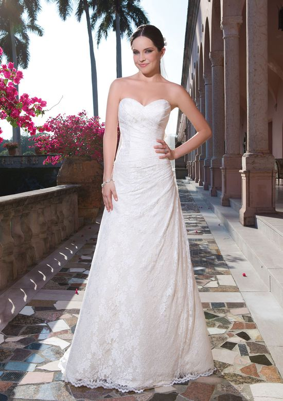 Sweetheart Gowns Rochelle Lace A-Line Dress with Sweetheart Neckline