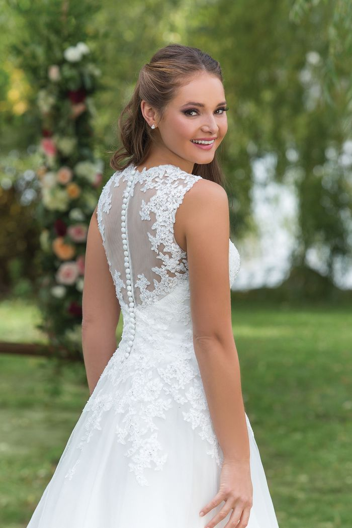Sweetheart Gowns  Sabrina Neckline Fit and Flare with Ruched Inverted Waistline