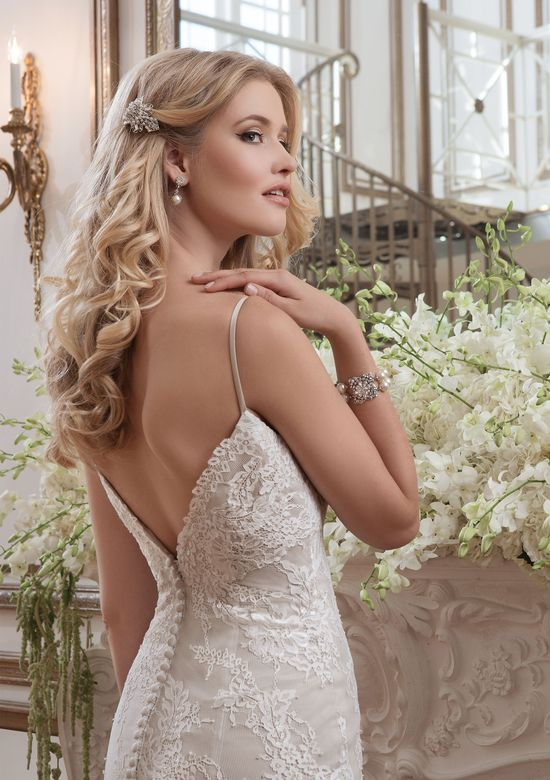 Justin Alexander Style 8791 Chantilly Lace Fit and Flare Wedding Dress
