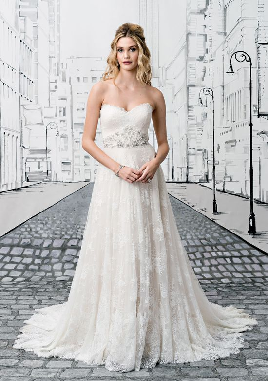 Justin Alexander Style 8766 Allover Chantilly Lace Gown