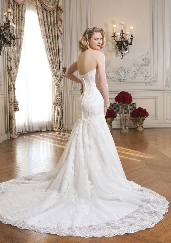 Justin Alexander Style 8689 Lace and Tulle Mermaid Gown with Cap Sleeves