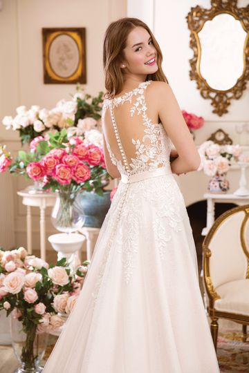 Sweetheart Gowns Style 6166 Beaded Lace Applique Gown with Sheer Tulle over Chantilly Lace