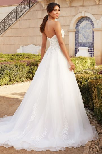 Sincerity Bridal Style 44227 Strapless Organza Ball Gown with Sweetheart Neckline