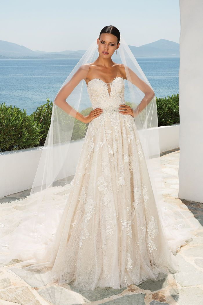 Justin Alexander Style 8921V Delicate Cathedral Length Train with Lace Appliques