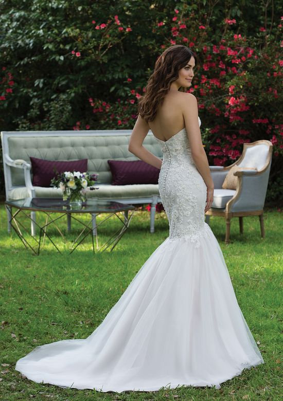 Sincerity Bridal Style 3944 Tulle Mermaid Gown with Beaded Lace Appliqués