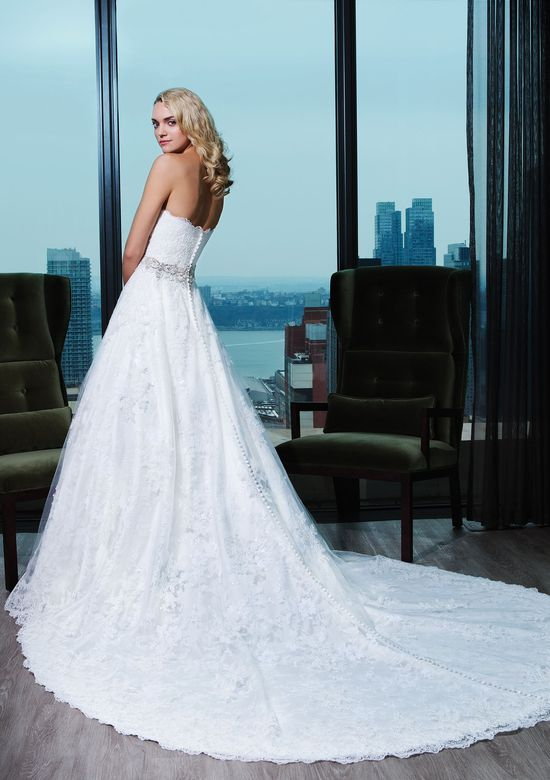Justin Alexander Signature Style 9764 Corded Lace A-Line Gown with Beaded Waist