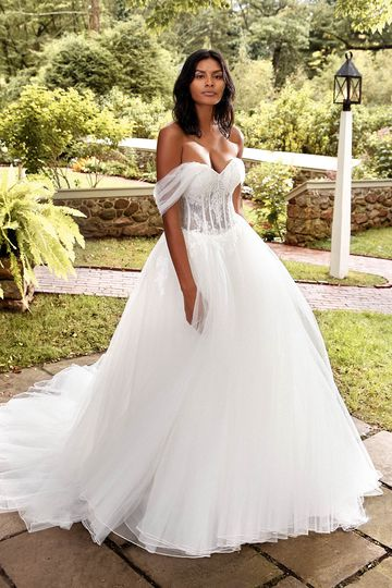 Sincerity Bridal Style 44273PI Detachable Ruched Tulle Shawl