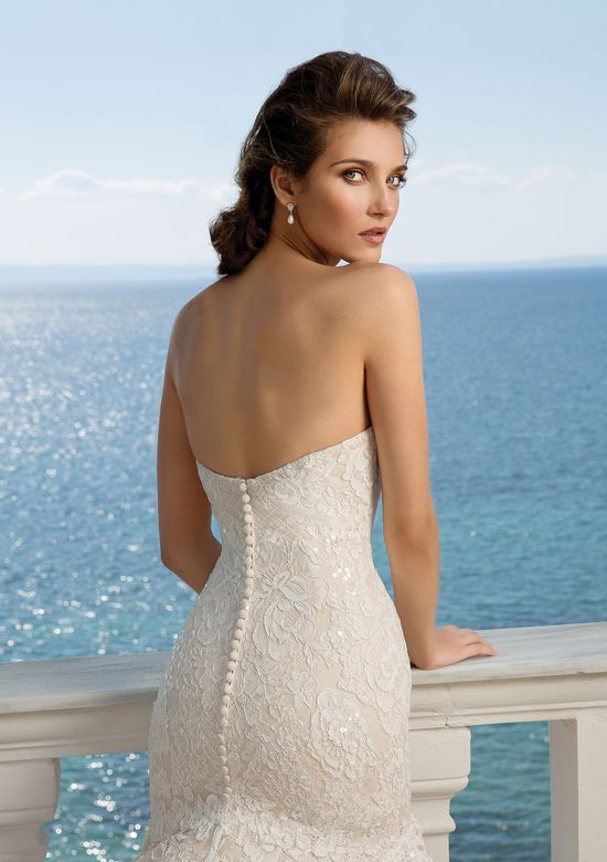 Justin Alexander style 88087D Allover Lace Trumpet Gown