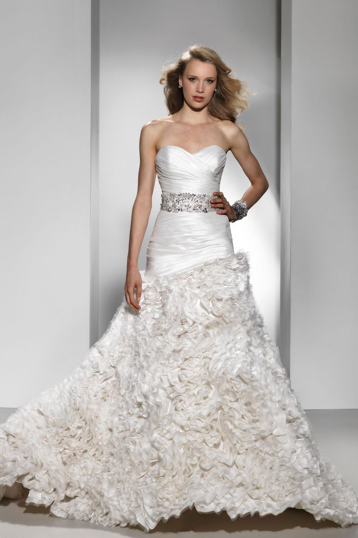 Justin Alexander Signature Style 9698 Taffeta mermaid dress highlighted with a sweetheart neckline