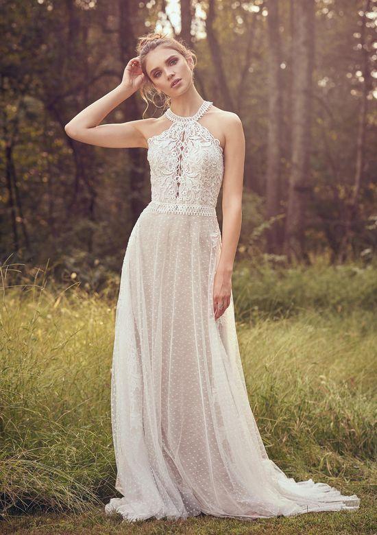 Lillian West Style 66081 Venice Lace Cage Dress with Jewel Neckline