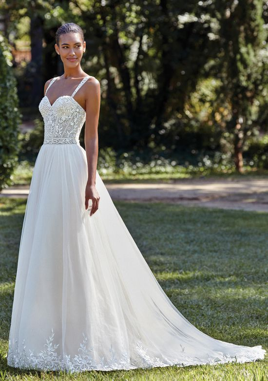 Sincerity Bridal Style 44147 Beaded Illusion Bodice with Full Tulle A-Line Skirt