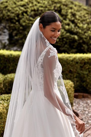 Sincerity Bridal Style 44276V Cathedral Length Veil with Beaded Edge