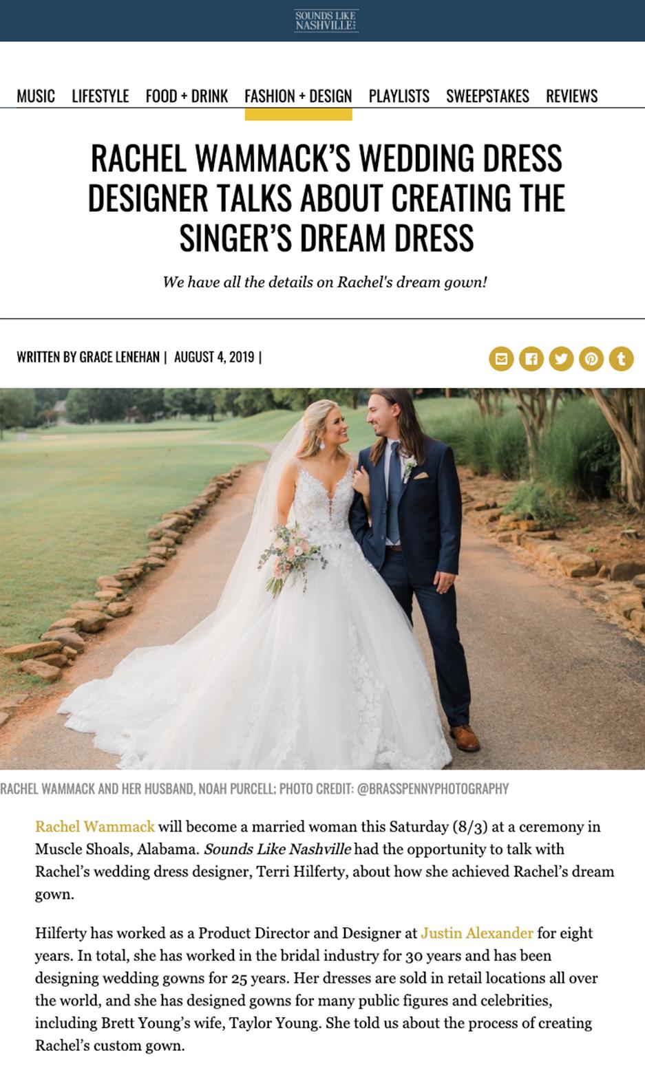 Editorial Coverage #JASbride Rachel Wammack in Sounds Like Nashville