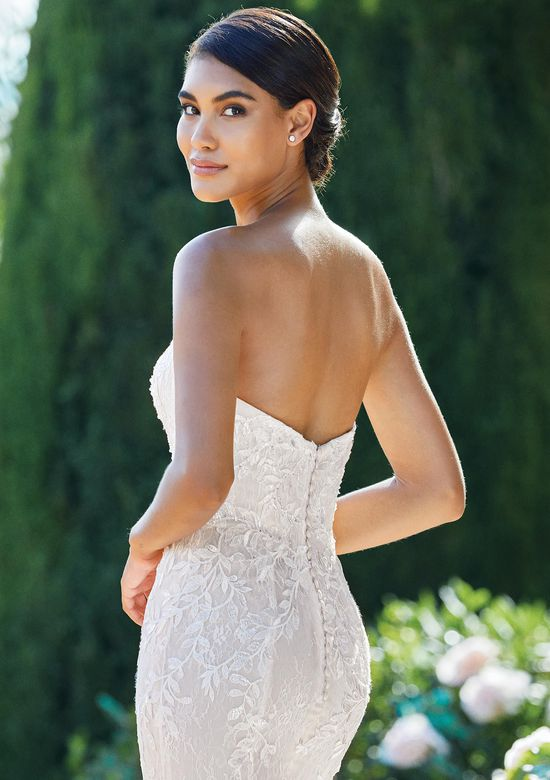 Sincerity Bridal Style 44215 Sweetheart Fit and Flare Dress with Beading and Allover Lace