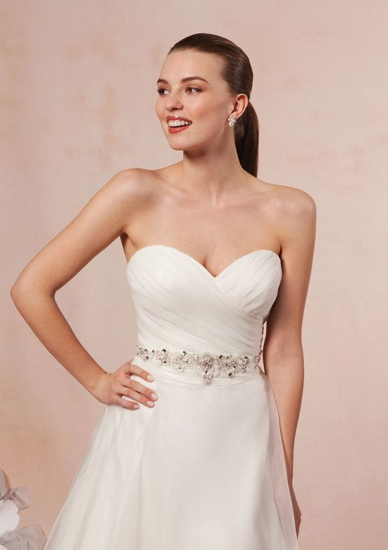 Sweetheart Gowns Style 5986 Pleated Organza Sweetheart Neckline Gown
