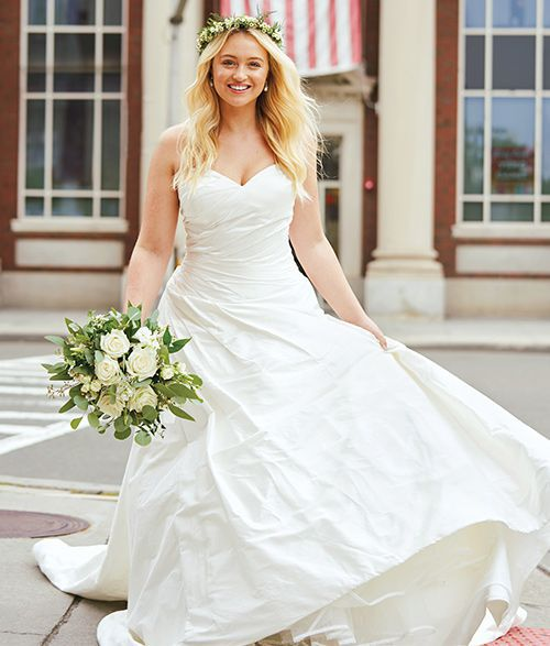 Justin Alexander Style 88029 | Asymmetrical Ruched Silk Dupion Ball Gown Iskra Lawrence