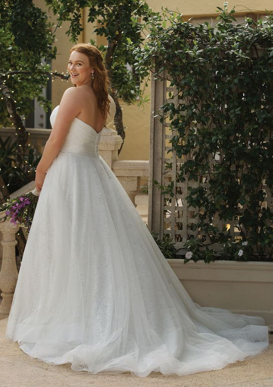 Sincerity Bridal Style 44055 Allover Lace Ball Gown with Tulle Overlay