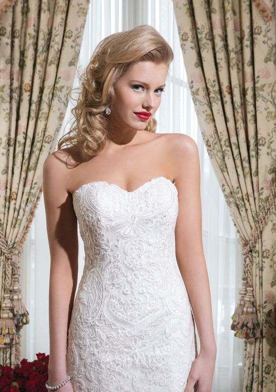 Justin Alexander Style 8776 Soutache Lace Fit and Flare Gown