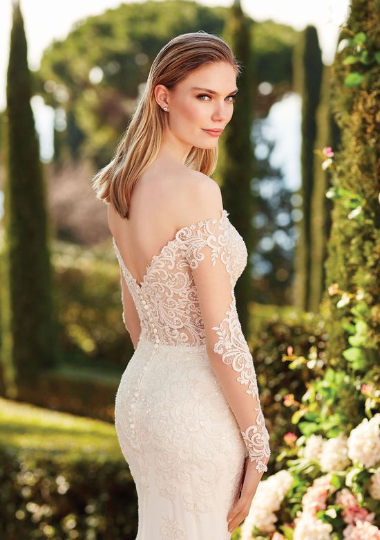 Sincerity Bridal Style 44169 Off the Shoulder Long Sleeve Gown with Beaded Embroidered Lace