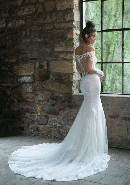 Sincerity Bridal Style 44059 Illusion Lace Off the Shoulder Fit and Flare Gown
