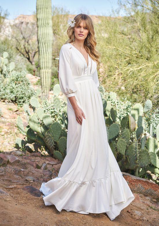 Vestiti Da Sposa Zingara.Stile 6518 Abito Da Sposa In Stile Gitano Con Maniche A Blusa