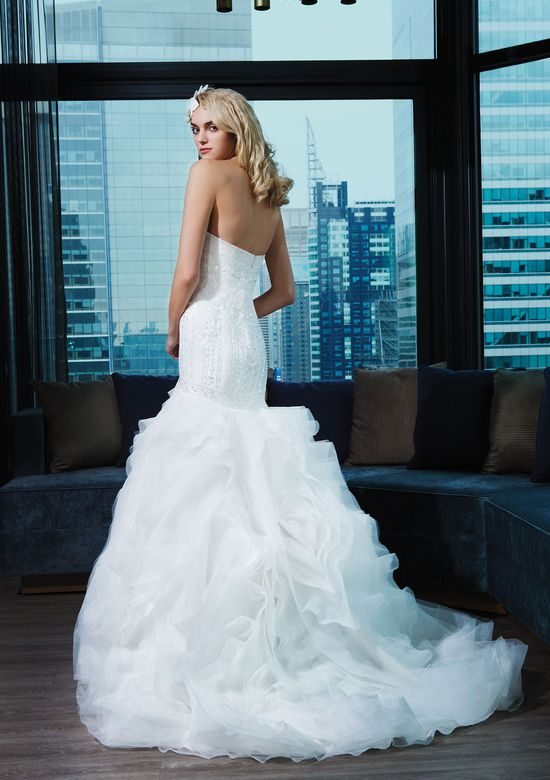 Justin Alexander Signature Style 9769 Tulle; Cotton Lace; Sequins Fit and Flare Bridal Gown