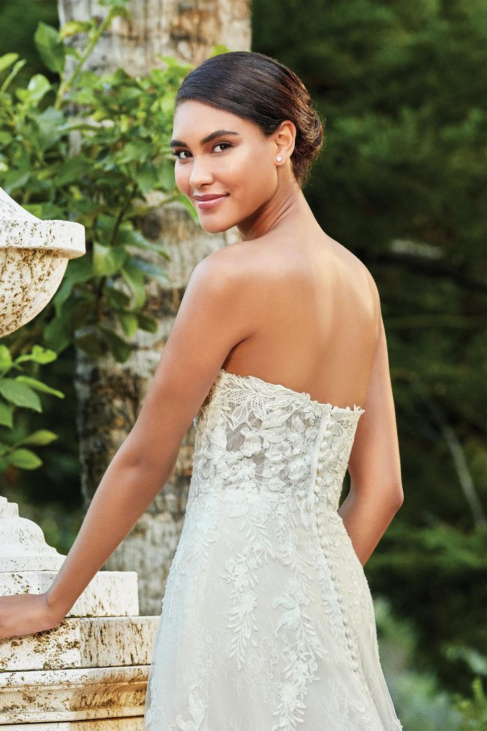 Sincerity Bridal Style 44209 Sweetheart A-Line Gown with Allover Lace and Exposed Boning