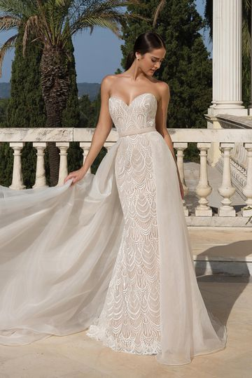 Justin Alexander Style 88085 Sequined Sweetheart Gowns Style  Neckline Allover Lace Dress