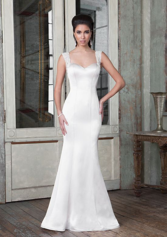 Justin Alexander Signature Style 9806 Luxe Charmeuse Bridal Gown with Plunging Back