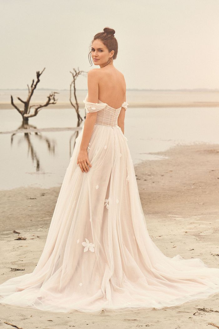 Lillian West Style 66110SL Detachable Tulle Sleeves with Floral Detail