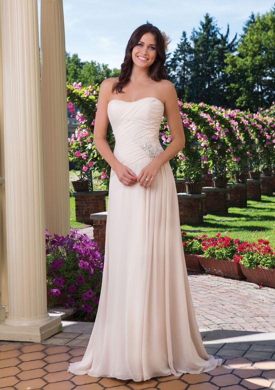 Sincerity Bridal Style 3920 Asymmetrical A-Line Gown with Beaded Motif