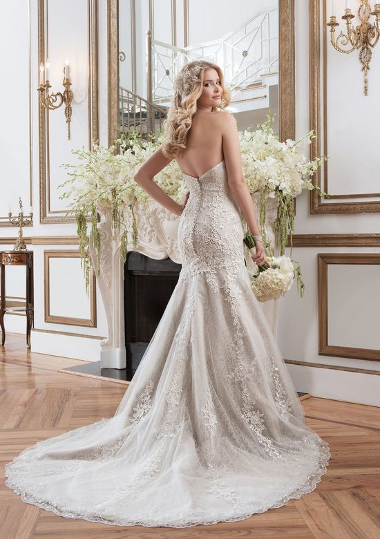 Justin Alexander Style 8793 Beaded Lace Appliqué Mermaid Bridal Gown