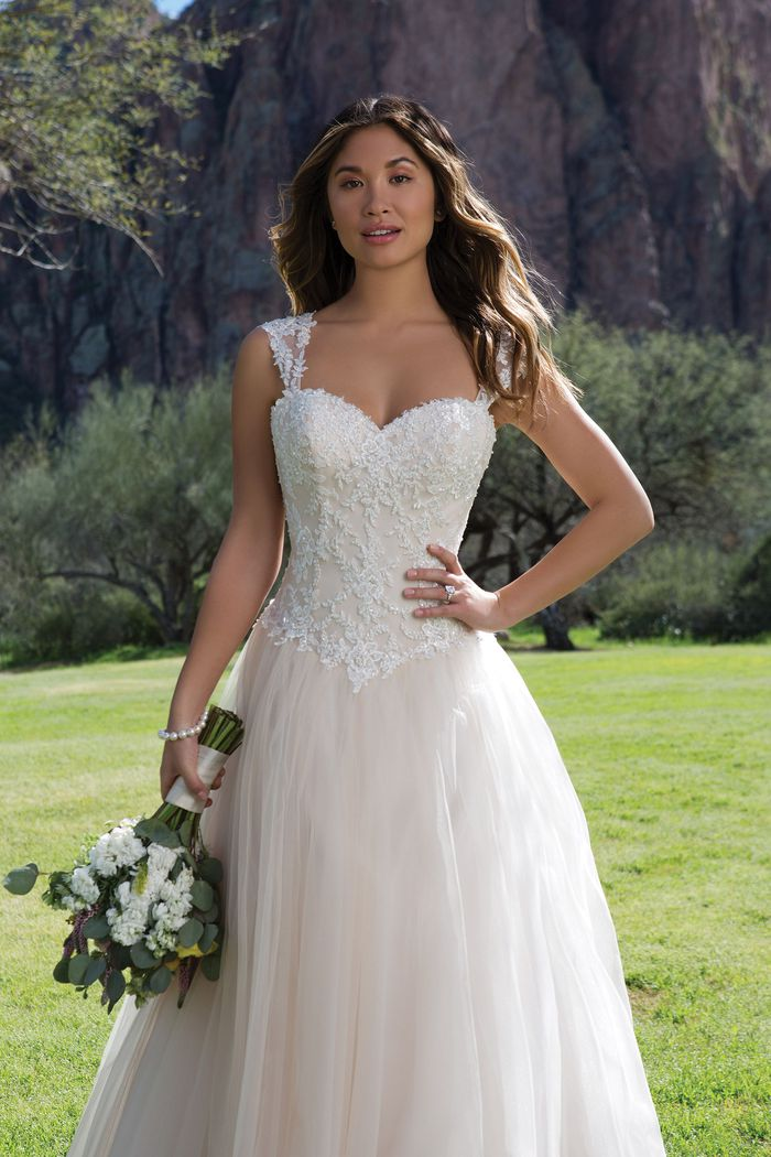 Sweetheart Gowns Sweetheart Neckline Ball Gown with Lace Up Back