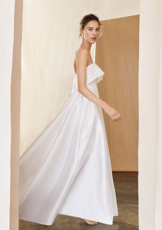 Justin Alexander Signature Style 99094 Alder Silk Mikado Cuff Ball Gown With Slit