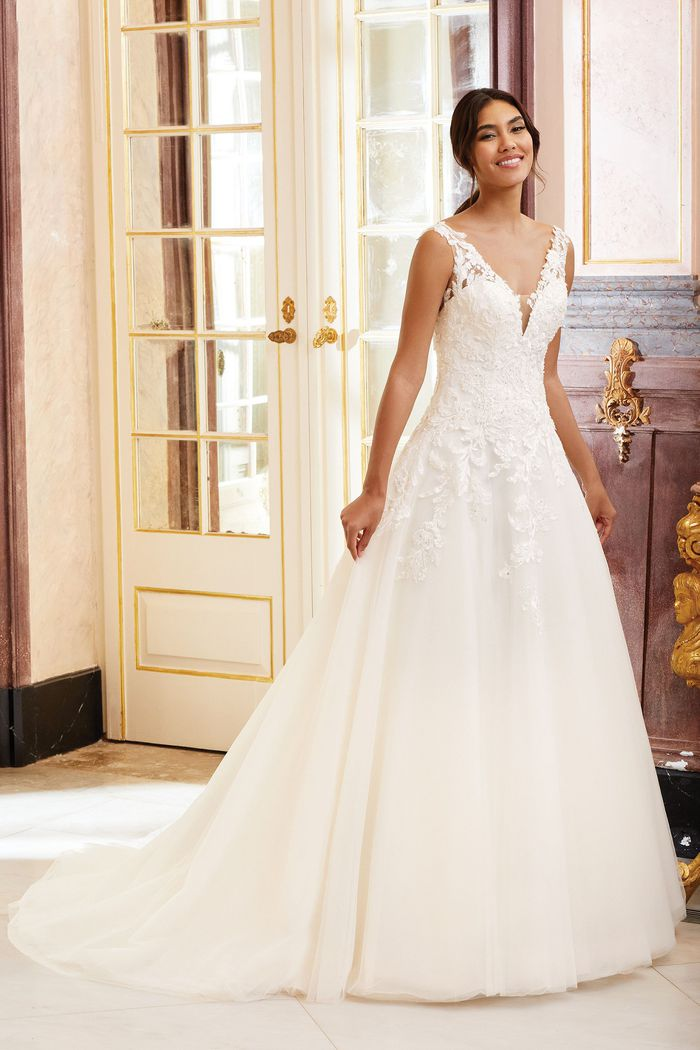 Sincerity Bridal Style 44230 Beaded Lace Ball Gown with Dropped Waist