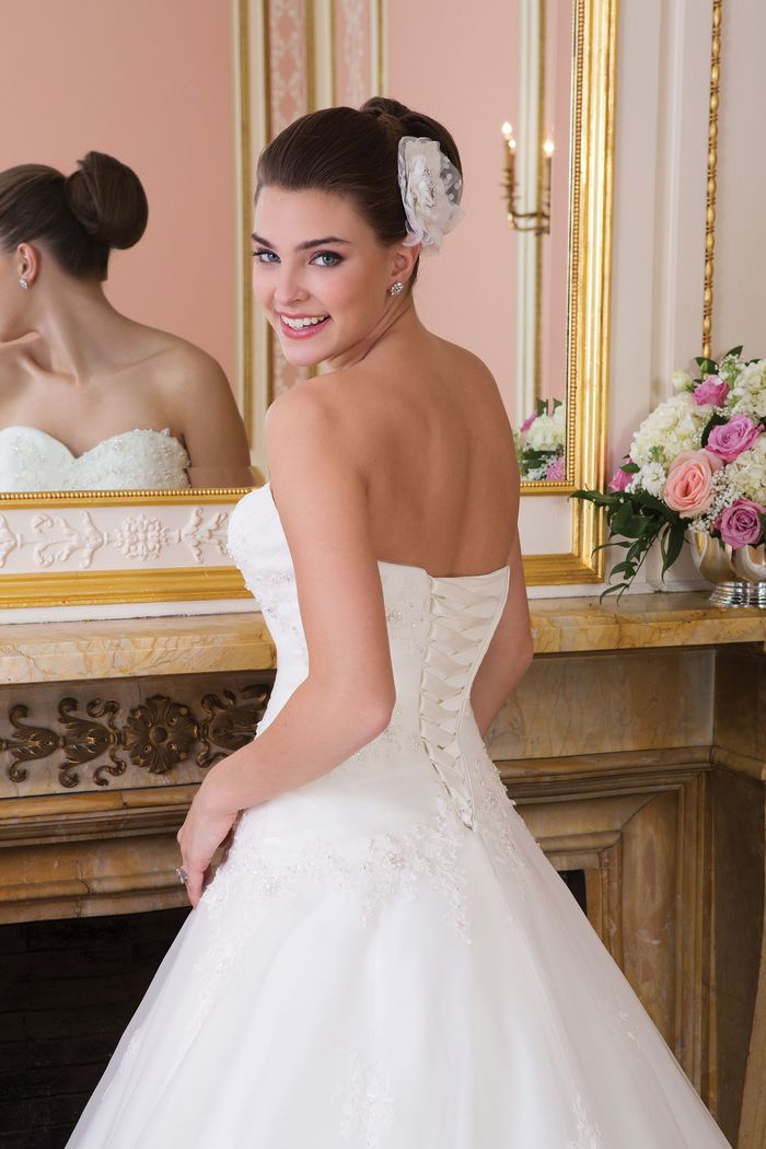 Sweetheart Gowns Style 6015 Tulle ball gown with a sweetheart neckline