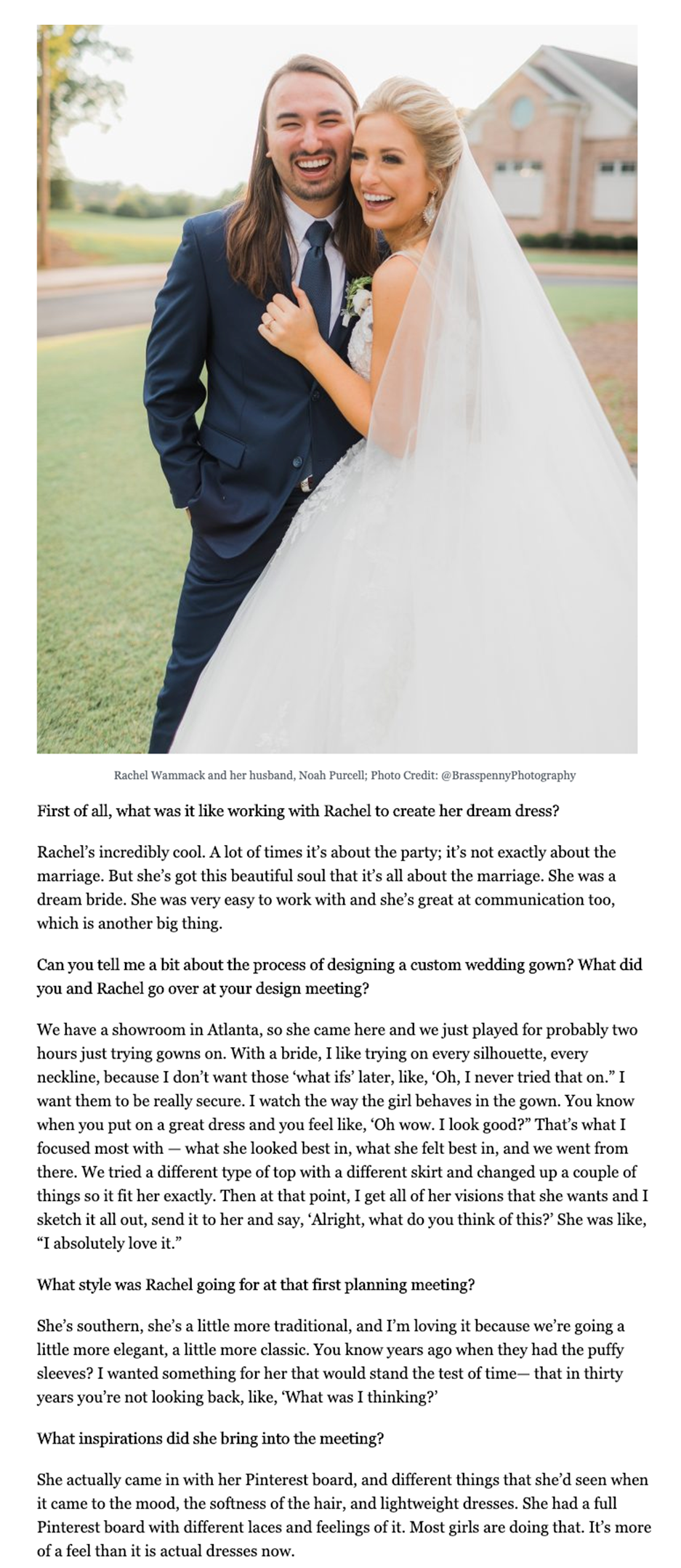 Editorial Coverage #JASbride Rachel Wammack in Sounds Like Nashville