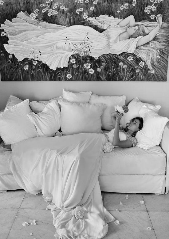 Justin Alexander 8799  Chiffon Ball Gown with Beaded Portrait Neckline